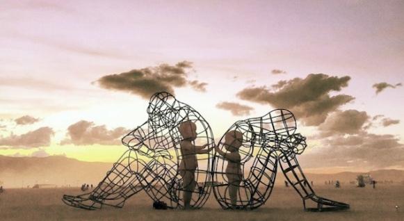burning man festival, Nevada _ Love by Alexandr Milov, Ukraine